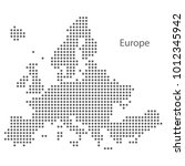 dot map of europe. vector eps10 | Shutterstock .eps vector #1012345942