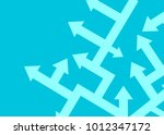arrows point in different... | Shutterstock .eps vector #1012347172