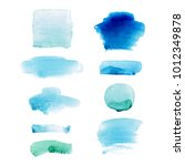 set of watercolor hand drawn... | Shutterstock . vector #1012349878