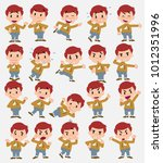 cartoon character white boy... | Shutterstock .eps vector #1012351996