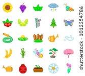 flowering icons set. cartoon...   Shutterstock .eps vector #1012354786