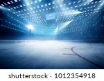hockey stadium with fans crowd... | Shutterstock . vector #1012354918