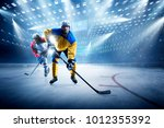 ice hockey players on the grand ... | Shutterstock . vector #1012355392