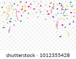 many falling colorful tiny... | Shutterstock .eps vector #1012355428