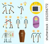 icons set about human with... | Shutterstock .eps vector #1012356772