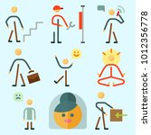icons set about human with sad... | Shutterstock .eps vector #1012356778