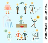 icons set about human with man  ... | Shutterstock .eps vector #1012356952