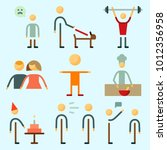 icons set about human with... | Shutterstock .eps vector #1012356958