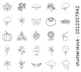 world of nature icons set.... | Shutterstock .eps vector #1012357942