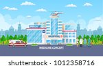 hospital building  medical icon.... | Shutterstock .eps vector #1012358716