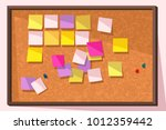 Sticky Note Bulletin Board