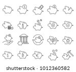 simple set of piggy bank... | Shutterstock .eps vector #1012360582