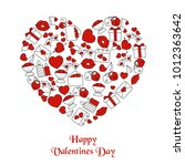 valentines day background with... | Shutterstock .eps vector #1012363642