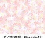 cherry blossom vector background | Shutterstock .eps vector #1012366156