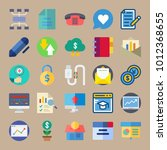 icon set about marketing with... | Shutterstock .eps vector #1012368655