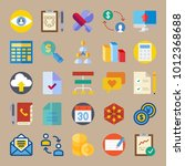icon set about marketing with... | Shutterstock .eps vector #1012368688