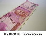 indian currency of rupees 2000 | Shutterstock . vector #1012372312