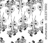 seamless floral pattern in... | Shutterstock .eps vector #1012373002