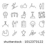 simple set of motivation... | Shutterstock .eps vector #1012373122