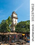 Small photo of Hyderabad / India 29 December2017 Mahboob Chowk Clock Tower which was built in 1892 by Asman Jah Prime Minister of Hyderabad in Telangana India