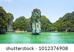 Limestone Rocks And Calm Sea Of ...