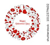 valentines day background with... | Shutterstock .eps vector #1012379602