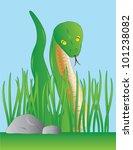 slithering green snake among... | Shutterstock .eps vector #101238082