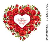 valentine's day greeting card... | Shutterstock .eps vector #1012384732