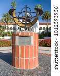 Small photo of SAN DIEGO, CA/USA - JANUARY 13, 2018: Sun dail in front of Hepner Hall on the campus of San Diego State University. SDSU, San Diego State is a public research university.