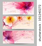 Stock vector flower vector background brochure template vector design 101240272