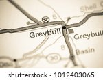 Greybull. Wyoming. USA on a map.