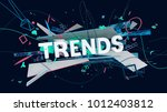 abstract 3d composition with... | Shutterstock . vector #1012403812