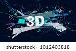 modern design trendy 3d... | Shutterstock . vector #1012403818