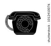 old phone icon | Shutterstock .eps vector #1012410076