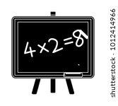 teaching board icon | Shutterstock .eps vector #1012414966