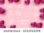 happy valentine's day vector... | Shutterstock .eps vector #1012416298