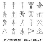 simple set of electric tower... | Shutterstock .eps vector #1012418125