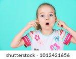 stubborn little kid with an... | Shutterstock . vector #1012421656