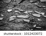 shards of broken glass  black... | Shutterstock . vector #1012423072