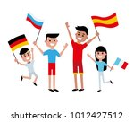 vector illustration friends... | Shutterstock .eps vector #1012427512