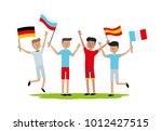 vector illustration friends... | Shutterstock .eps vector #1012427515