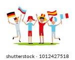 vector illustration friends... | Shutterstock .eps vector #1012427518