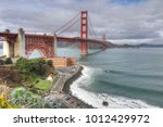 the golden gate bridge on a... | Shutterstock . vector #1012429972