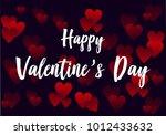 happy valentine's day... | Shutterstock .eps vector #1012433632