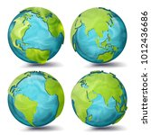 world map. planet set. earth... | Shutterstock . vector #1012436686