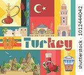 turkey vector vacations... | Shutterstock .eps vector #1012444042