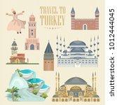 turkey vector vacations...   Shutterstock .eps vector #1012444045