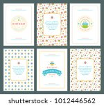 happy birthday greeting cards... | Shutterstock .eps vector #1012446562