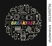 breakfast colorful gradient... | Shutterstock .eps vector #1012450756