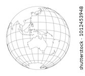outline earth globe with map of ... | Shutterstock .eps vector #1012453948